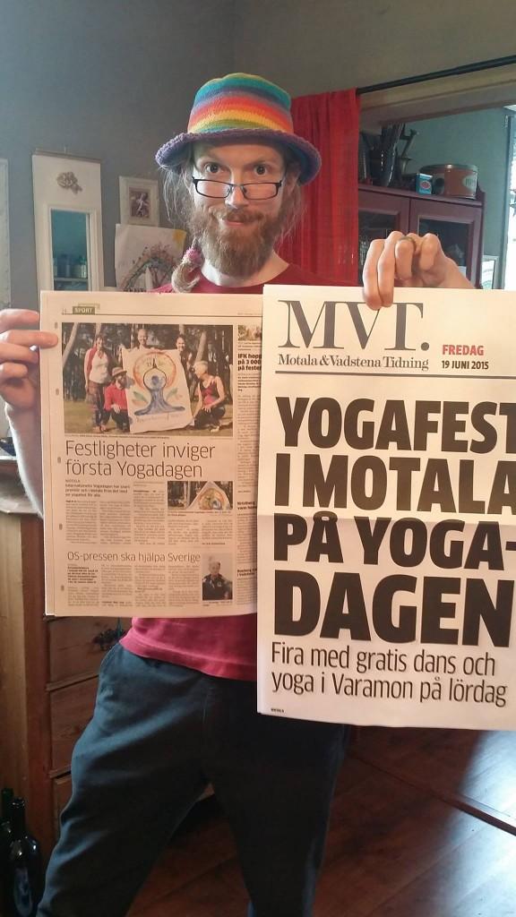 Festligheter inviger den första Yogadagen - MVT 19 Juni 2015