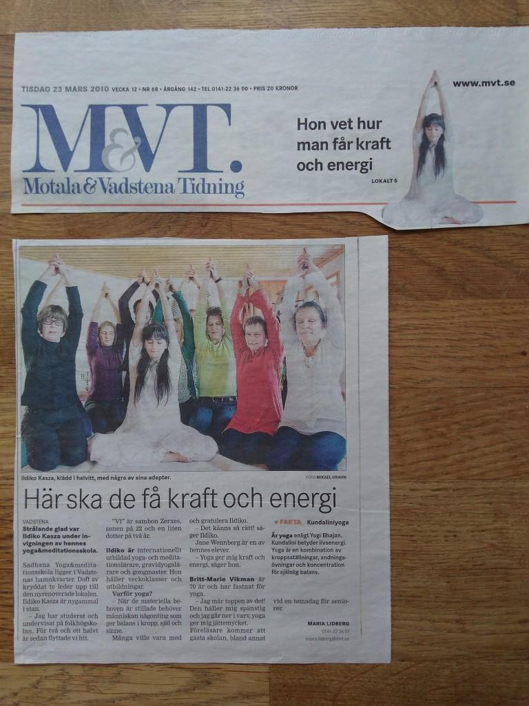 MVT. Motala & Vadstena Tidning Tisdag 23 Mars 2010 Vecka 12 Nummer 68 Lokalt sidan 5 - Här ska de få kraft och energi