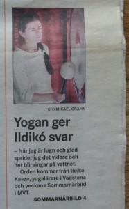 Yogan ger Ildikó svar