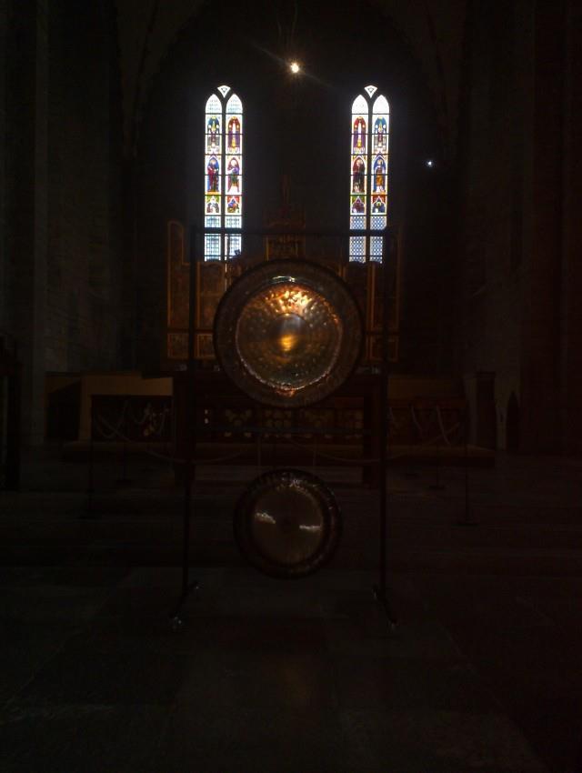 Gongarna på besök i Vadstena Klosterkyrka