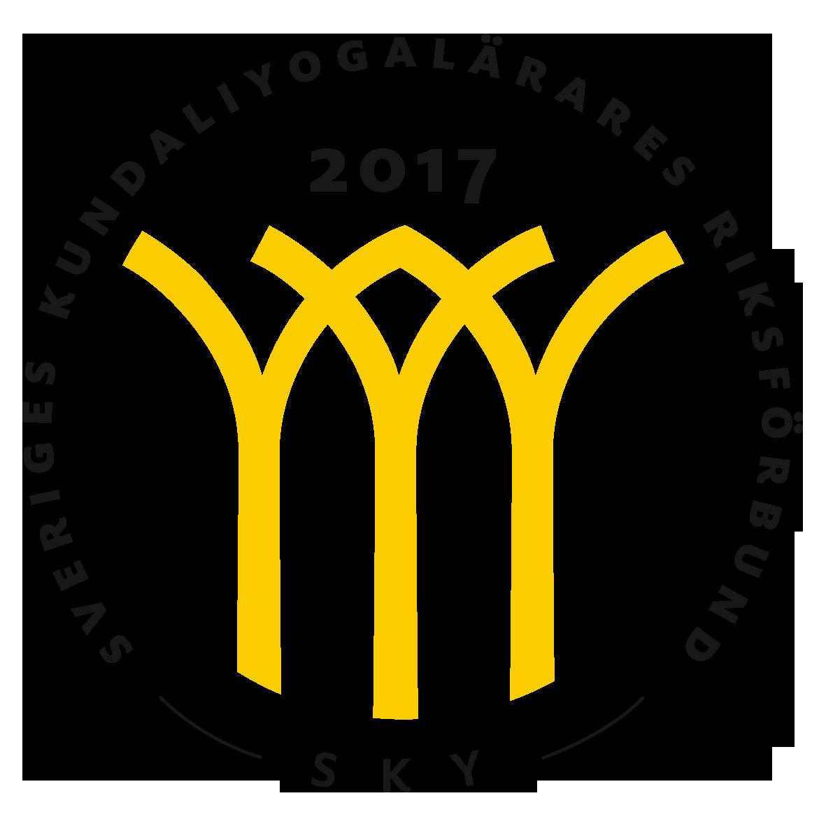 Sveriges Kundaliniyogalärares Riksförbund SKY Kvalitetssymbol 2017