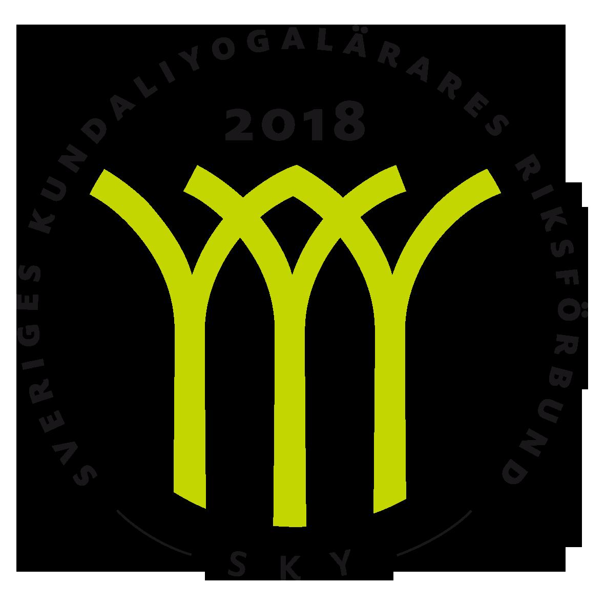 Sveriges Kundaliniyogalärares Riksförbund SKY Kvalitetssymbol 2018